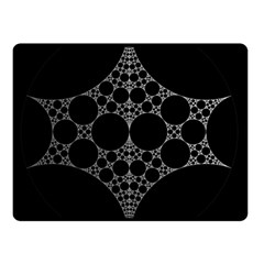 Drawing Of A White Spindle On Black Double Sided Fleece Blanket (Small)