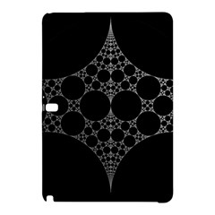 Drawing Of A White Spindle On Black Samsung Galaxy Tab Pro 12.2 Hardshell Case