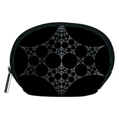 Drawing Of A White Spindle On Black Accessory Pouches (Medium)