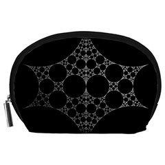 Drawing Of A White Spindle On Black Accessory Pouches (large)