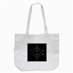 Drawing Of A White Spindle On Black Tote Bag (white)