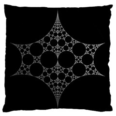 Drawing Of A White Spindle On Black Large Flano Cushion Case (Two Sides)