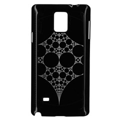 Drawing Of A White Spindle On Black Samsung Galaxy Note 4 Case (Black)