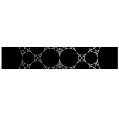 Drawing Of A White Spindle On Black Flano Scarf (large)