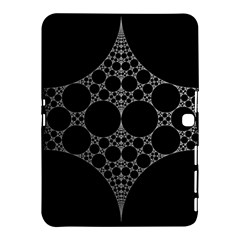 Drawing Of A White Spindle On Black Samsung Galaxy Tab 4 (10 1 ) Hardshell Case