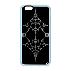 Drawing Of A White Spindle On Black Apple Seamless iPhone 6/6S Case (Color)