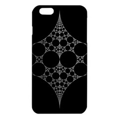 Drawing Of A White Spindle On Black iPhone 6 Plus/6S Plus TPU Case