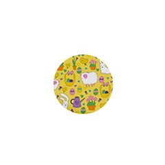 Cute Easter pattern 1  Mini Buttons