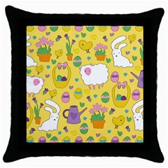 Cute Easter pattern Throw Pillow Case (Black)