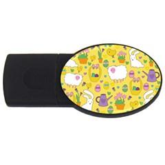 Cute Easter pattern USB Flash Drive Oval (1 GB)