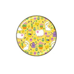 Cute Easter pattern Hat Clip Ball Marker (4 pack)