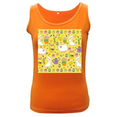 Cute Easter pattern Women s Dark Tank Top
