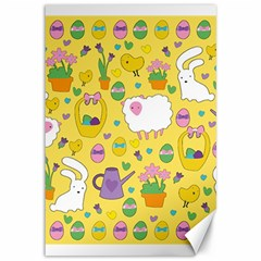Cute Easter pattern Canvas 12  x 18
