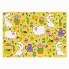 Cute Easter pattern Large Glasses Cloth
