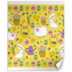 Cute Easter pattern Canvas 11  x 14