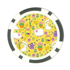 Cute Easter pattern Poker Chip Card Guard
