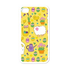 Cute Easter pattern Apple iPhone 4 Case (White)