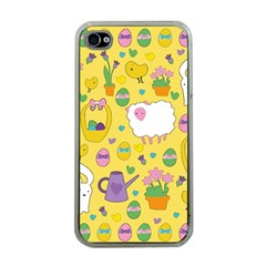 Cute Easter pattern Apple iPhone 4 Case (Clear)