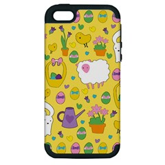 Cute Easter pattern Apple iPhone 5 Hardshell Case (PC+Silicone)