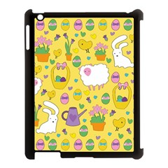 Cute Easter pattern Apple iPad 3/4 Case (Black)