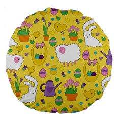 Cute Easter pattern Large 18  Premium Round Cushions