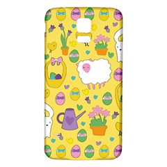 Cute Easter pattern Samsung Galaxy S5 Back Case (White)