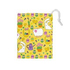 Cute Easter pattern Drawstring Pouches (Medium)