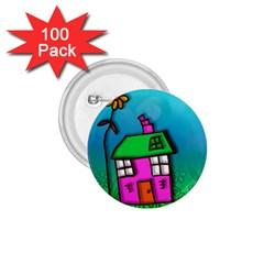 Cartoon Grunge Cat Wallpaper Background 1.75  Buttons (100 pack)