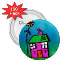 Cartoon Grunge Cat Wallpaper Background 2 25  Buttons (100 Pack)