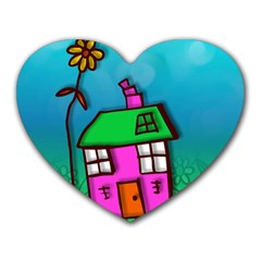 Cartoon Grunge Cat Wallpaper Background Heart Mousepads
