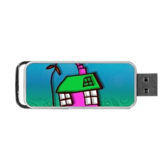Cartoon Grunge Cat Wallpaper Background Portable USB Flash (Two Sides)