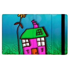 Cartoon Grunge Cat Wallpaper Background Apple Ipad 2 Flip Case