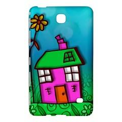 Cartoon Grunge Cat Wallpaper Background Samsung Galaxy Tab 4 (8 ) Hardshell Case