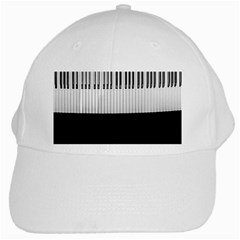 Piano Keys On The Black Background White Cap