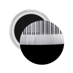 Piano Keys On The Black Background 2.25  Magnets