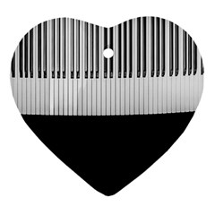 Piano Keys On The Black Background Ornament (Heart)