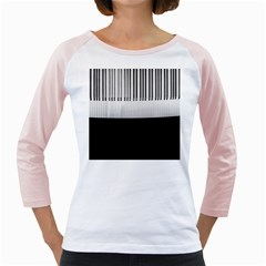 Piano Keys On The Black Background Girly Raglans