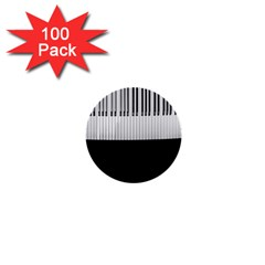 Piano Keys On The Black Background 1  Mini Buttons (100 pack)
