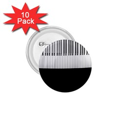 Piano Keys On The Black Background 1 75  Buttons (10 Pack)