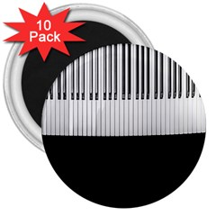Piano Keys On The Black Background 3  Magnets (10 pack)