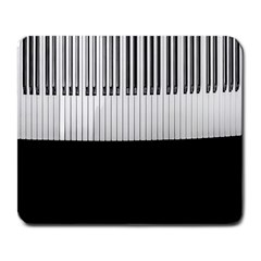Piano Keys On The Black Background Large Mousepads