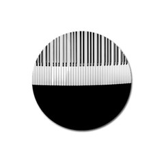 Piano Keys On The Black Background Magnet 3  (Round)