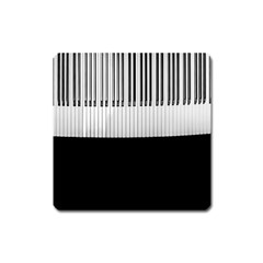 Piano Keys On The Black Background Square Magnet