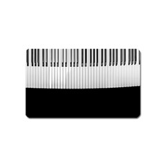 Piano Keys On The Black Background Magnet (Name Card)
