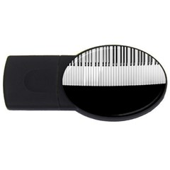 Piano Keys On The Black Background USB Flash Drive Oval (2 GB)