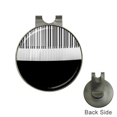 Piano Keys On The Black Background Hat Clips with Golf Markers