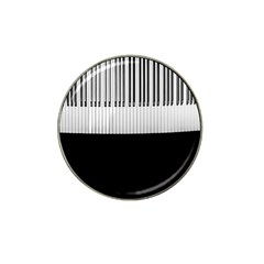Piano Keys On The Black Background Hat Clip Ball Marker