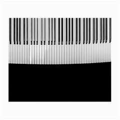 Piano Keys On The Black Background Small Glasses Cloth