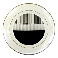 Piano Keys On The Black Background Porcelain Plates