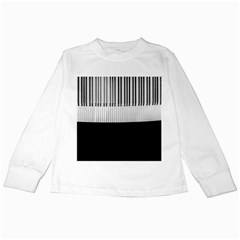 Piano Keys On The Black Background Kids Long Sleeve T Shirts